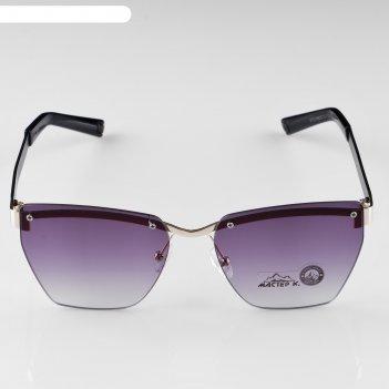 Очки солнцезащитные мастер к.,  uv 400, 14х13х4 см, линза 4х5.2 см, градие