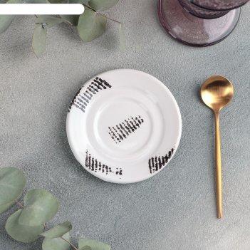 Блюдце универсальное малое «gazzetta bianco», d=10,5 см