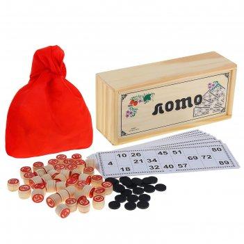 Игра лото в деревянной коробке ягодки 24*11см