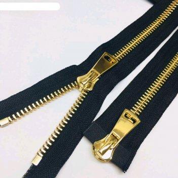 Молния для одежды, №8тт, 100 см, цвет чёрный