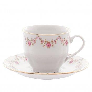 Набор чайных пар leander  соната мелкие цветы 250 мл (6 пар)