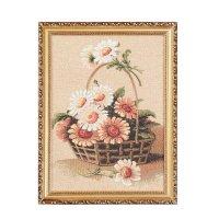 Картина гобелен садовые цветы 27х36