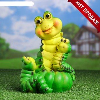 Садовая фигура гусеницы семья  14*15*24см