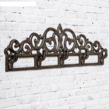 Крючки декоративные металл узоры 12,5х39,5х3,5 см