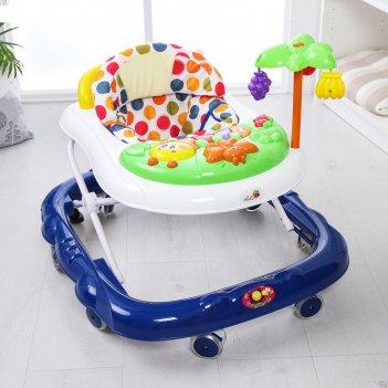 Ходунки пальма, 7 силиконовых колес, муз., игрушки (упак.5 шт.)(alis), -си