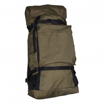 Рюкзак турист №40 цв. хаки тк. брезент,32*3*57* отд на молнии, 3 н/кармана