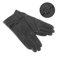 Перчатки женские вики, р-р 6,5, подклад, цвет черный