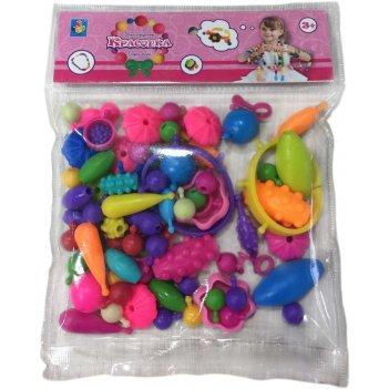 1 toy красотка набор для творчества конструктор украшений 100 деталей в па