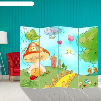 Ширма детский мир, 200 x 160 см