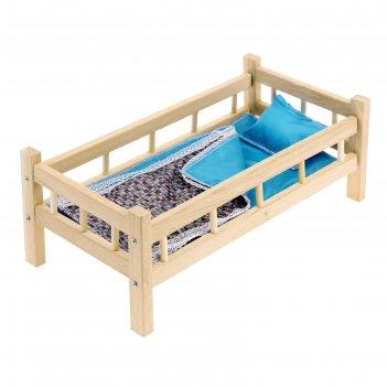 Кроватка кукольная 10, цвета микс