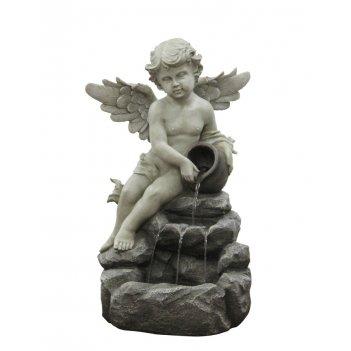 Фонтан для сада  ангелочек