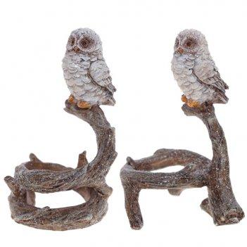 Подсвечник сова, 2 в., l11 w9 h16 см