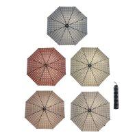 Зонт механический ветроустойчивый квадратные узоры, микс
