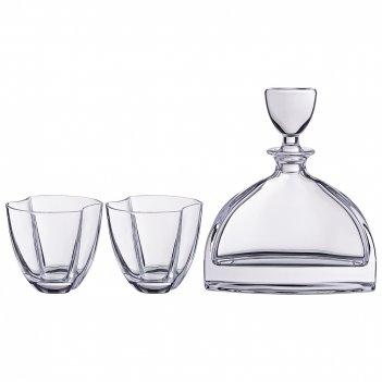 Набор для виски нэмо 3пр.: штоф + 2 стакана 550/...
