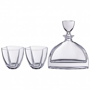 Набор для виски нэмо 3пр.: штоф + 2 стакана 550/350 мл высота=22/10 см (ко