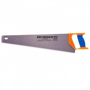 Ножовка по дереву, 500 мм, шаг зубьев 6,5 мм, пластиковая рукоятка (ижевск