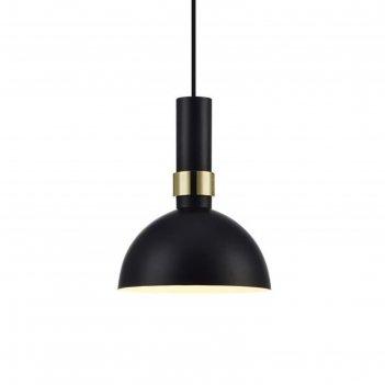 Светильник larry 1x60вт e27 чёрный, латунь