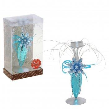 Подсвечник декор на одну свечу 14,3*8,3*24,2 см сказочный цветок