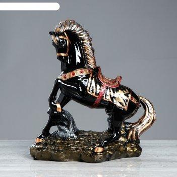 Статуэтка конь на дыбах глянец