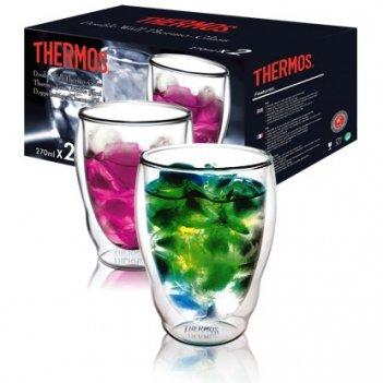 Стакан из двойного стекла thermos double glass tumbler, 0.27l