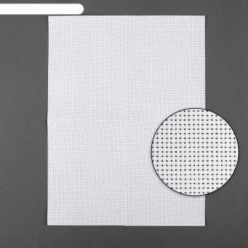 Канва для вышивания, №11, 30 x 40 см, цвет белый
