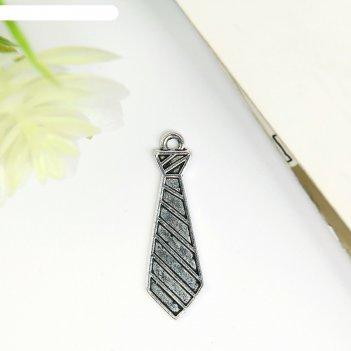 Декор для творчества металл галстук серебро 3х0,9 см