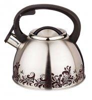 Чайник со свистком 2,5 л.нжс, цвет декора меняется...