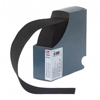 Эластичная лента для уплотнения шва 40 мм 10м, цвет черный