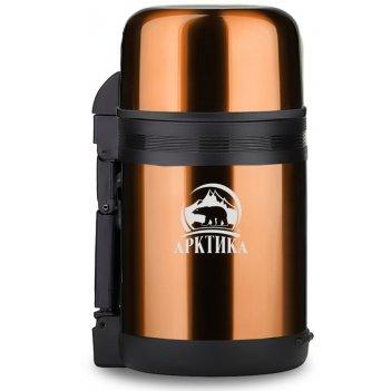Термос арктика с широким горлом универсальный 202-1000 кофейный , 1 л (нер