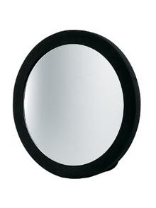 Зеркало заднего вида полимер,черное, круглое, с ручкой, диаметр 23,5 см