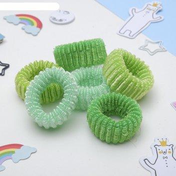 Резинка для волос махрушка (набор 12 шт) 6 см зеленый