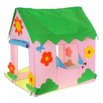 Игровая палатка домик с цветочками