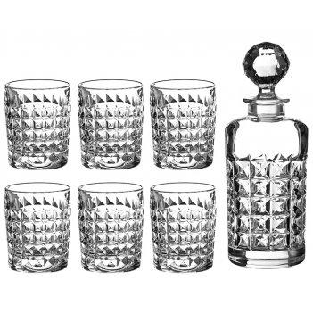 Набор для виски даймонд 7 пр.: штоф+6 стаканов 7...