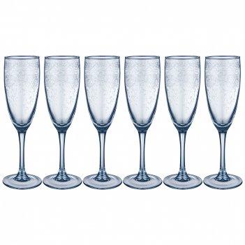 Набор бокалов из 6 шт light blue ренесанс 170 мл