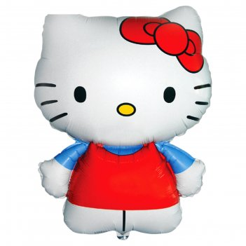 Шар фольга 26 hello kitty красная фм