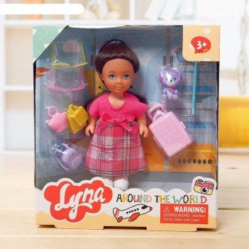 Кукла малышка «анечка» путешественница с аксессуарами, микс
