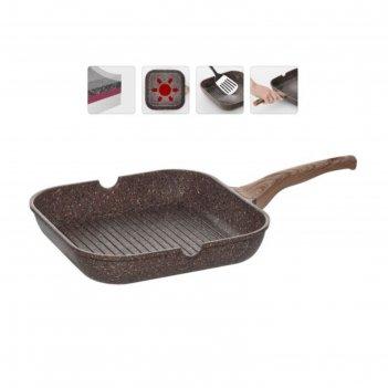 Сковорода-гриль с антипригарным покрытием, 28х28 см greta