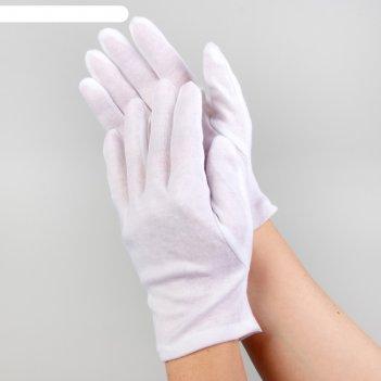 Перчатки хлопковые р-р m (фас 12пар цена за пару) белый