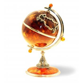 Сувенир глобус из янтаря