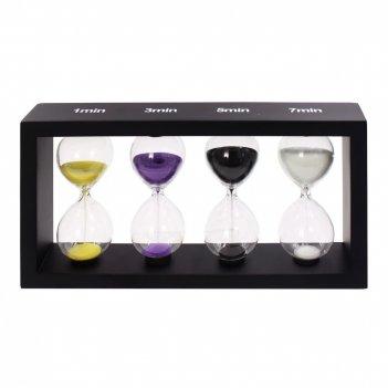 Часы песочные (1; 3; 5; 7 мин.), l25 w4,5 h13 cм