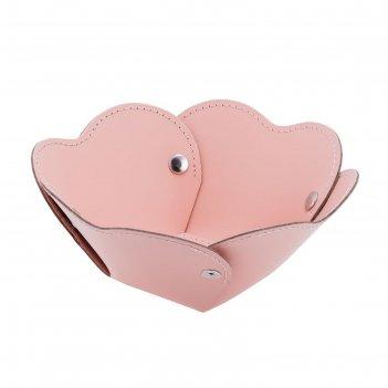 Корзина corona, 14x5 см, розовая