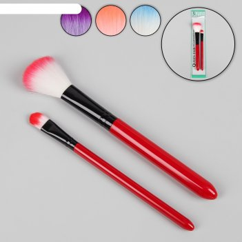 Набор для макияжа 2 предмета, цвета микс