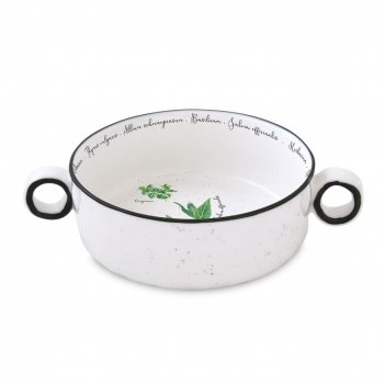 Салатник диаметр: 16 см, материал: фарфор, цвет: белый с декором, серия he
