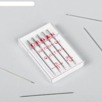 Иглы для бытовых швейных машин  для квилтинга 50 шт №75-90 organ