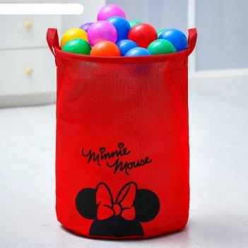 Корзина текстильная minnie mouse минни маус, 45*35*35 см