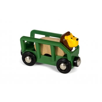 Brio вагончик со львом, 2 элемента 8,6х3,4х5,1 см., кор. 15,3х13,3х4 см.