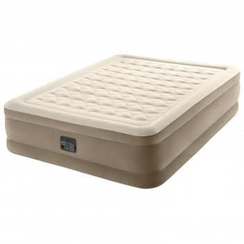Кровать надувная ultra plush bed 152 х 203 х 46 см, встроенный насос 220v