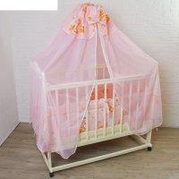 Комплект в кроватку (2 предмета), цвет розовый, принт микс 7029роз