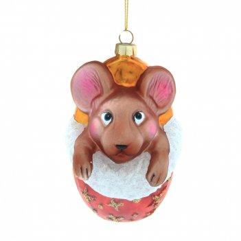 Новогоднее украшение мышка, l7,2 w6,2 h11,8 см
