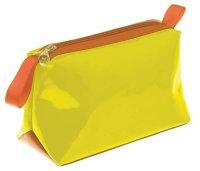 Косметичка dewal beauty серия ягодный микс, желтая 20х8х12см